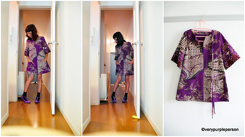 Batik purple dress