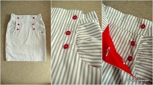 Stripey Kasia skirt
