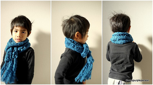 Dropped stitch scarf