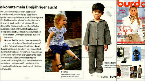 Featured in German Burda Modemagazin!