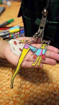 Shrink plastic keychains