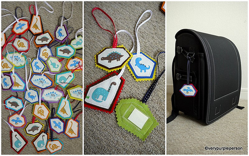 Dinosaurs bag tags