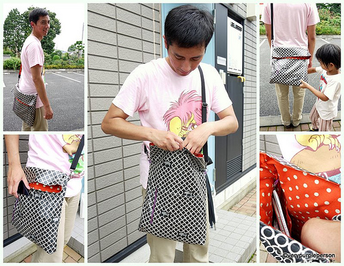 Pig and polkadot bag