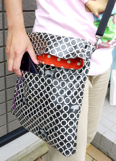 Pig and polkadot bag (and pencil pouch)