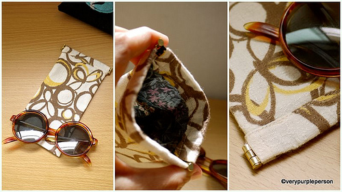 Sunglasses pinch pouch
