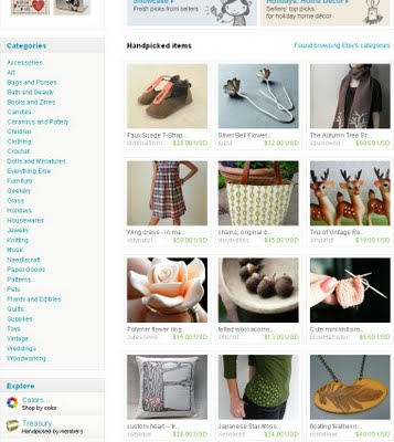 Etsy front pages and other thing