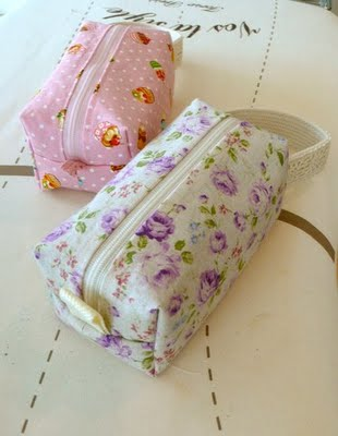 Boxy pouches for sewing session