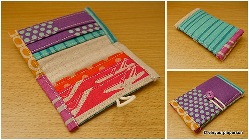 Mini wallet/Card case in Echino fabric