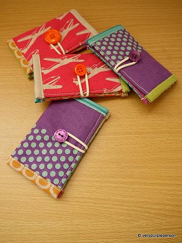 Mini wallets in Echino fabric