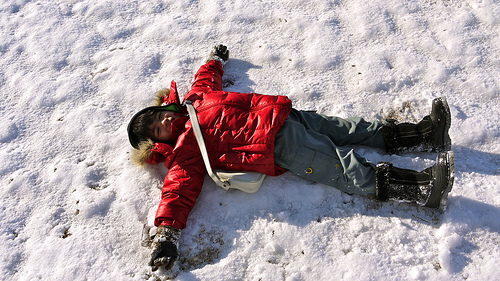 Sidra loves snow