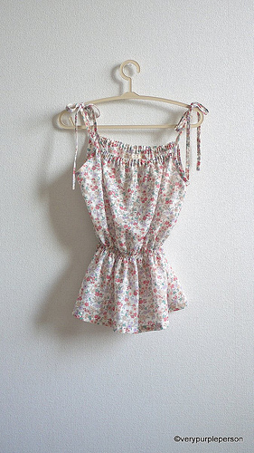White floral camisole