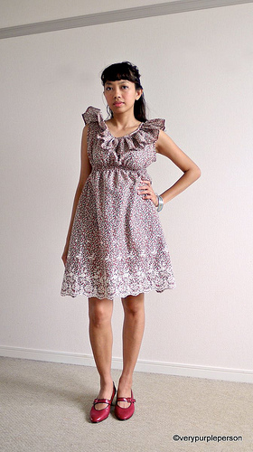 Ruffled collar dress