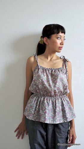 Grey floral camisole