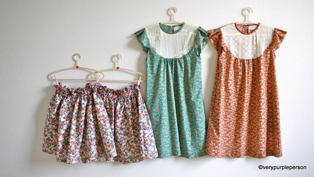 Floral skirts and dresses