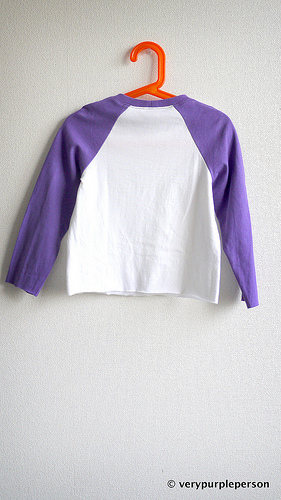 White and purple shirt