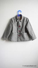 Linen and fox jacket