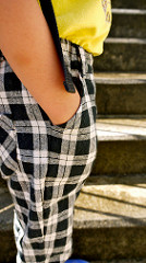 Checks pants: Front pocket