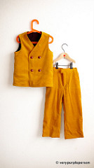 Yellow corduroy vest and pants