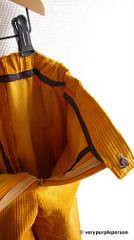 Yellow corduroy vest and pants