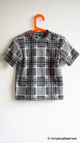 Recycled check T-shirt