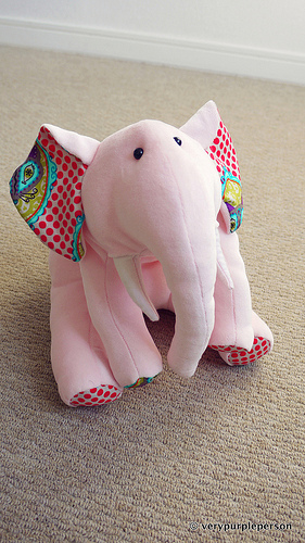 Baon-chan, the pink elephant