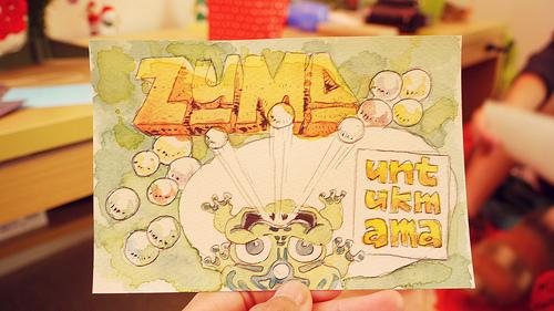 Handmade Zuma gift card untuk mama