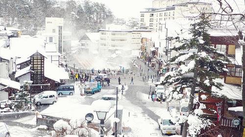 Snowy Kusatsu