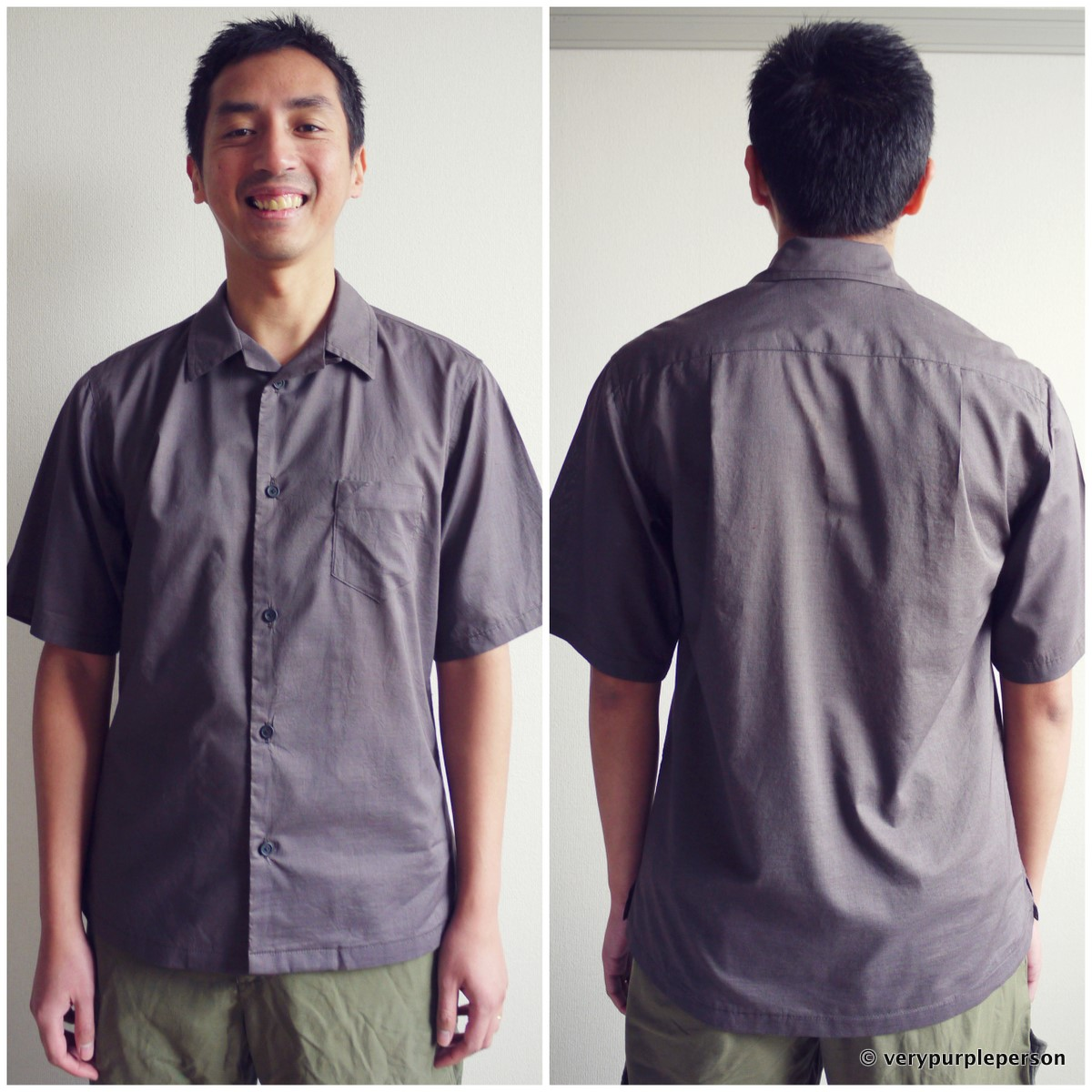 Men's shirt: first muslin