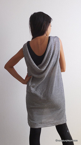 Loose drape dress