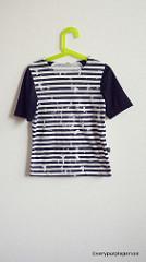 Broken striped T-shirt