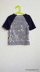 Broken striped T-shirt