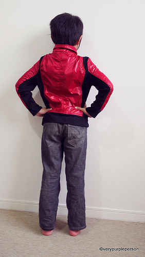 Red parachute jacket