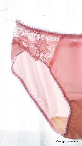 Pretty pink lingerie
