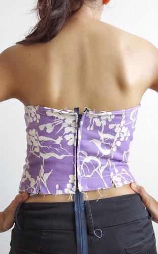 Bombshell dress muslin - backside