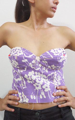 Bombshell dress - muslin
