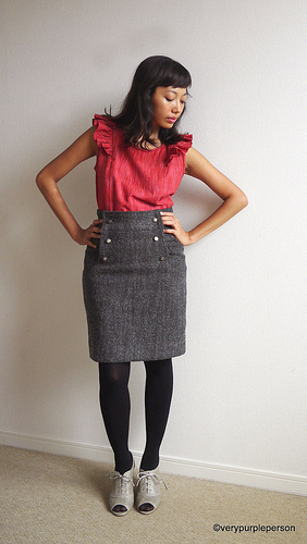 Pendrell blouse and Kasia skirt