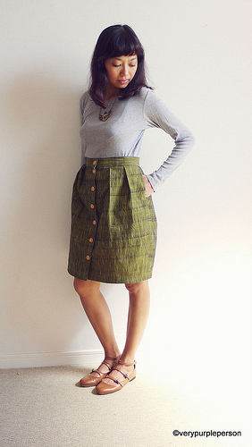 Button up skirt
