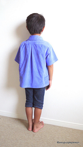 Indigo blue corduroy shirt