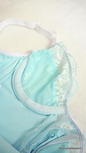 Baby blue bodysuit