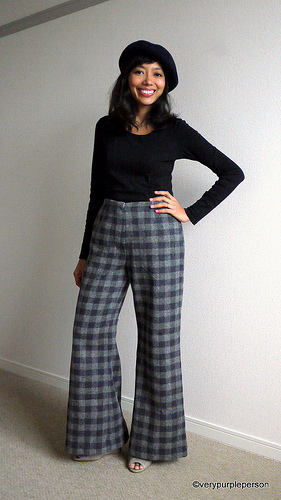 Wide-leg wool pants (vintage Simplicity 6108)
