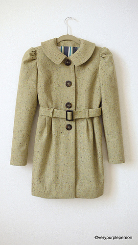 Pistachio green coat (Burdastyle Sewing Handbook)