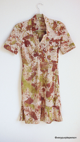 Splotches dress (Vogue 1285)