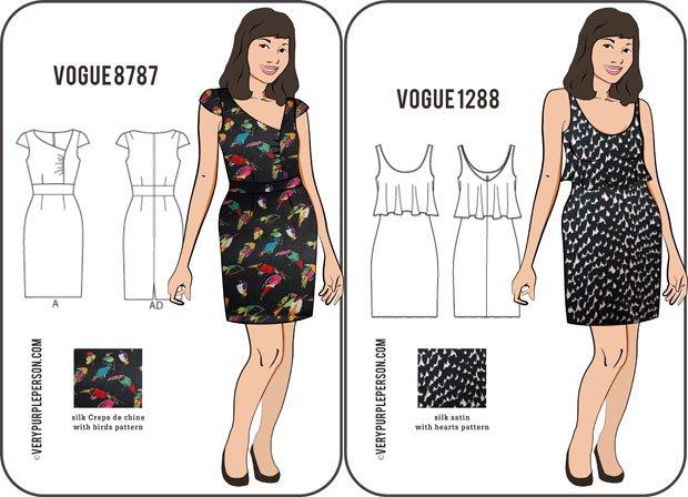 Vogue 8787 and Vogue 1288