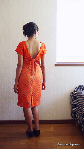 Orange dress (Vogue 8313)