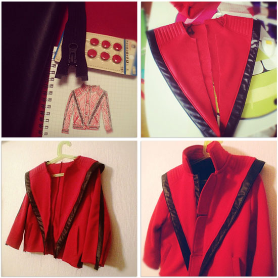 Thriller jacket in progress