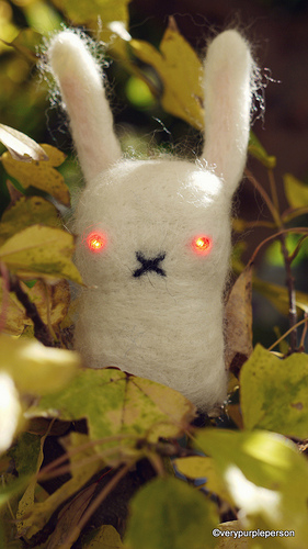 Laser eyed bunny