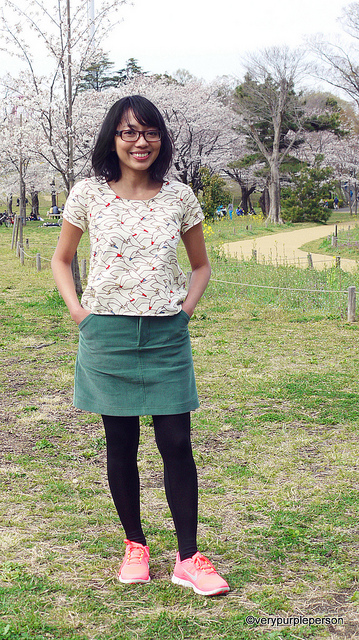 Scout woven tee and Moss skirt
