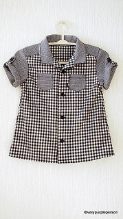 Checker print shirt