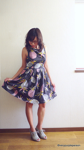 Pineapple dress (Vogue 8901)