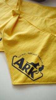 Screen printing newbie: ARK dog scarves